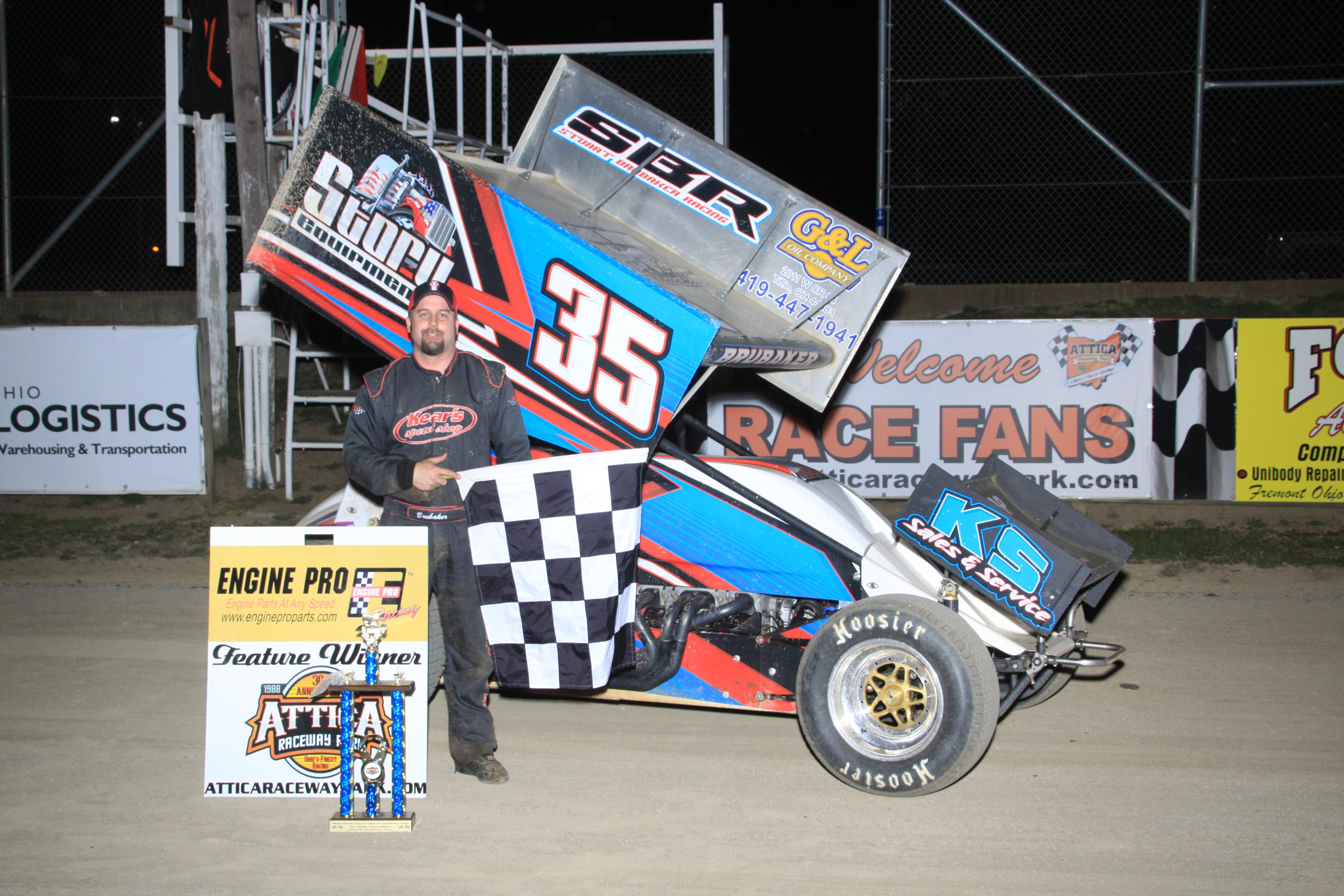 410 Sprint Feature Winner Stuart Brubaker