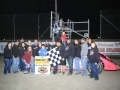 UMP Late Model feature winner Rusty Schlenk