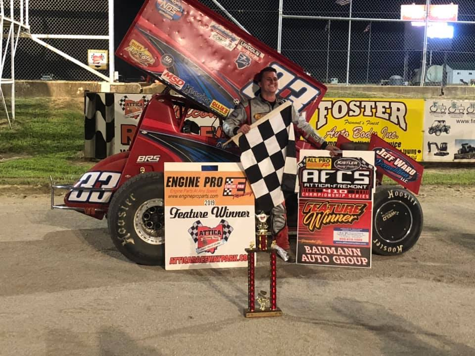 Griffith holds off Haudenschild for Attica AFCS win